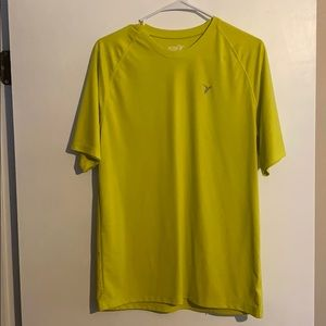 NWOT old navy work out shirt yellow/green